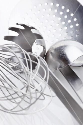 An assortment of kitchen tools