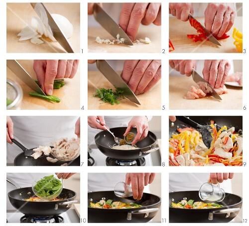 Hähnchen-Curry zubereiten