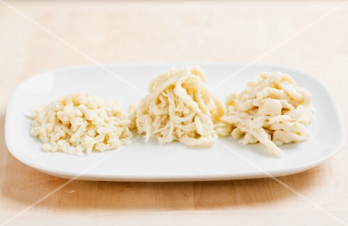 Home-made Spätzle (soft egg noodles from Swabia)