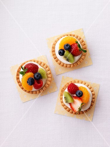 Three fruit tartlets