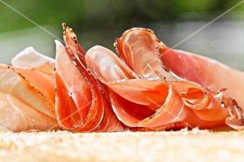 Slices of ham (close-up)