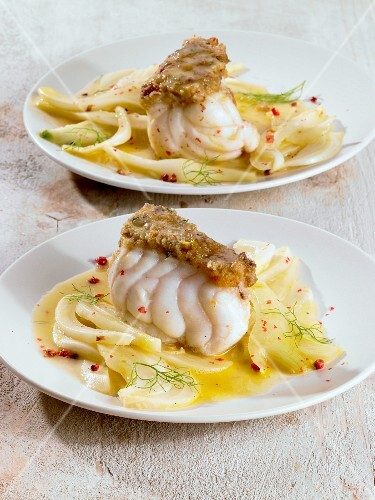 Monkfish with a fennel medley