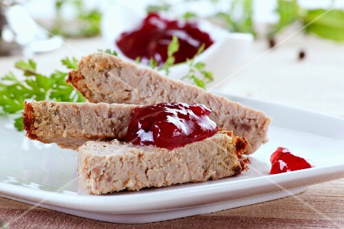 Chicken liver terrine with cranberry sauce