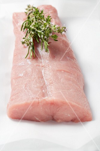 Raw saddle of veal