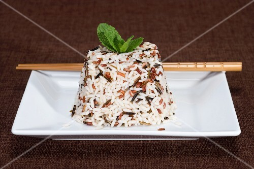 A wild rice timbale