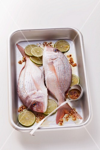 Sea bream with ginger and lime marinade