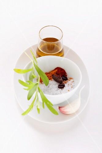 Ingredients for Cafe-de-Paris marinade