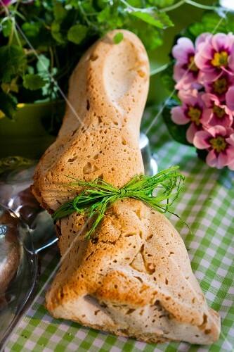 Rabbit-shaped cornbread