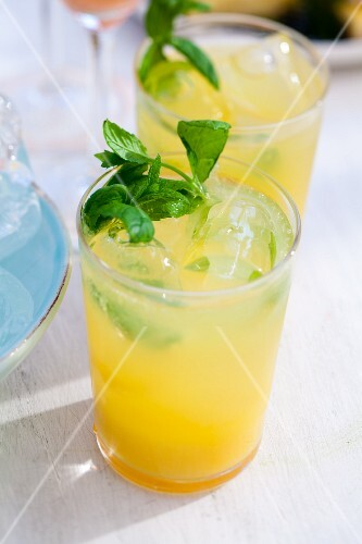 Orange lady cocktail with mint