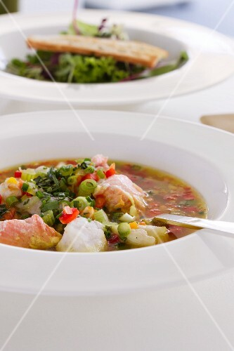 Fish soup with vegetables (France)