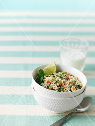 Couscous with basil