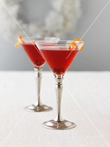 Martini with orange zest