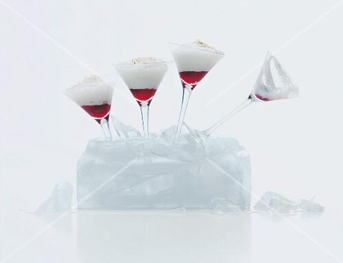 Four coconut cream cocktails
