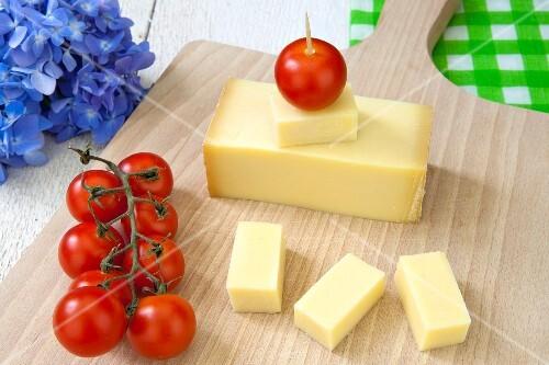 Gruyere and cherry tomatoes
