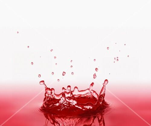 A splash of raspberry juice