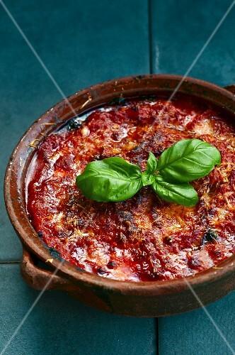 Pamigiana di melanzane (aubergine casserole, Italy)