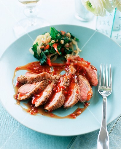 Duck breast with sweet chilli sauce