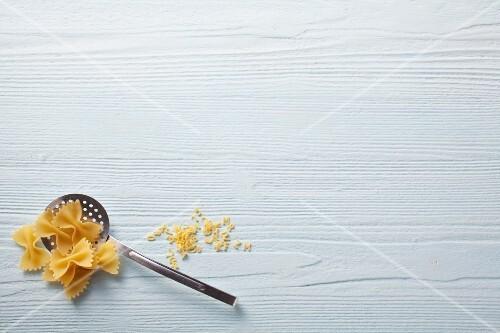 Farfalle and alphabet pasta