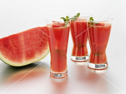 Water melon cocktails and fresh water melon