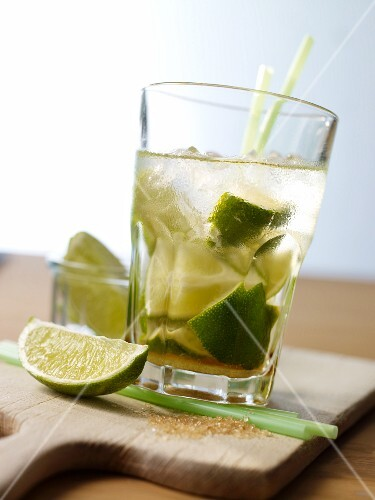 Caipirinha with lime