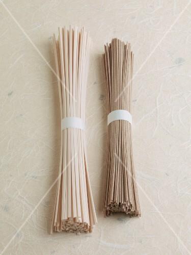 Udo noodles and soba noodles