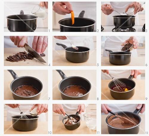 Schokoladensouffle zubereiten