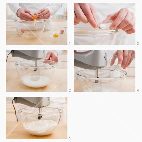 Eier trennen und Eiweiss steif schalgen