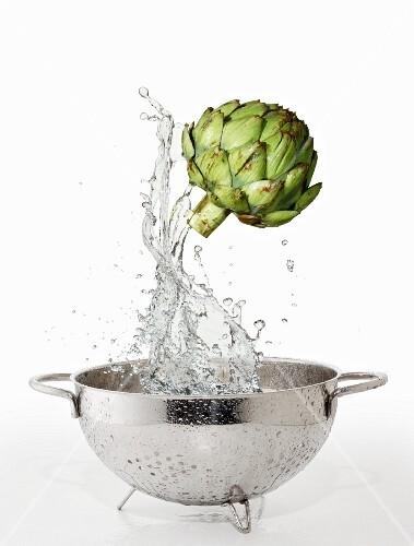 Artichoke and water