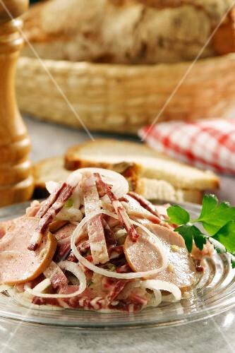Nuremberg mixed sausage salad (Franconia, Germany)