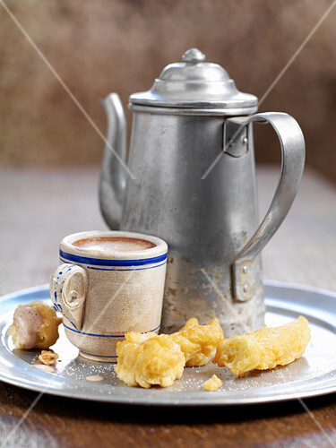 Hot chocolate and fritters