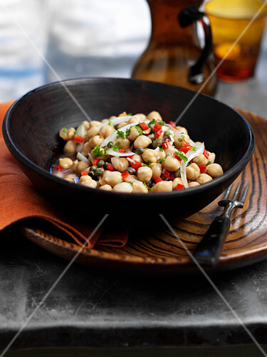 Marinated chickpeas with capers