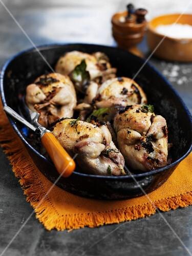 Stuffed quail