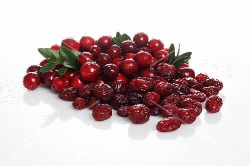 Cranberries, fresh and dried