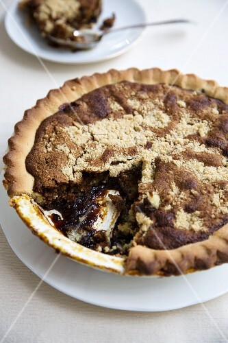 Piece of Shoo Fly Pie on a Plate with Fork