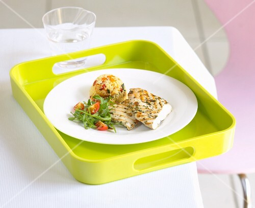 Grilled chicken breast with fruity couscous