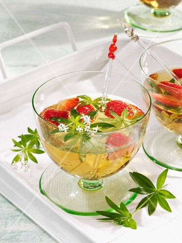 May punch with strawberries