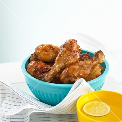 Glazed chicken legs