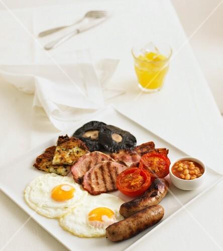 A classic full English breakfast