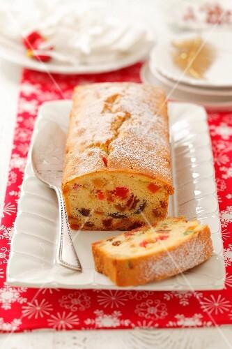 Fruit loaf for Christmas
