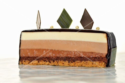 A slice of chocolate mousse