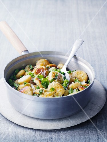 Gnocchi with peas and fava beans