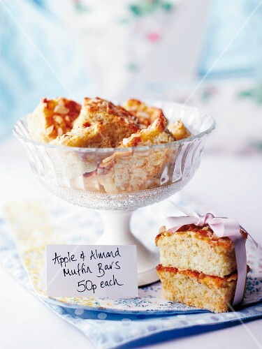 Apple and almond muffin slices
