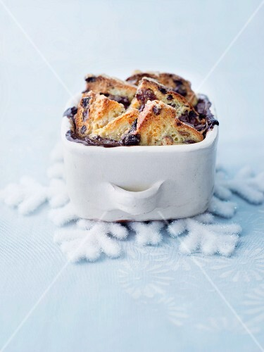 Bread and butter pudding for Christmas