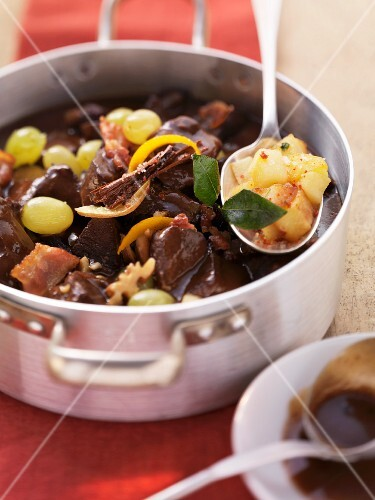 Oven-braised venison goulash with Christmas spices