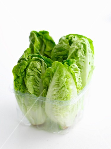 Lettuces in a plastic container