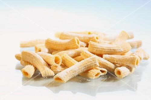 Homemade penne pasta
