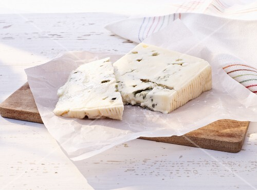 Gorgonzola on a chopping board