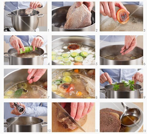 Preparing prime boiled beef