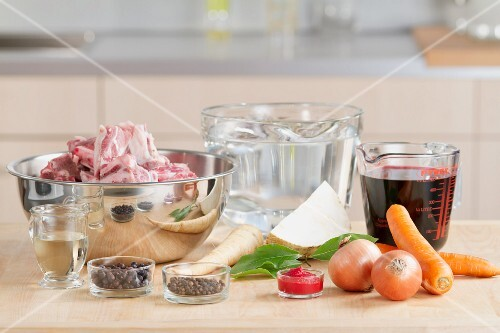 Ingredients for veal stock