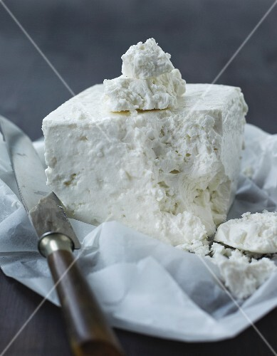 A block of sheep's cheese
